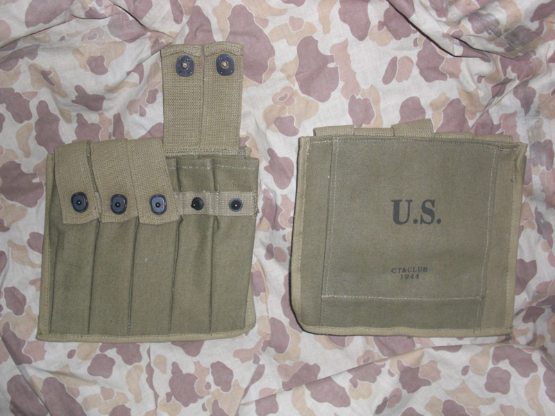 WW2 US Thompson Tommy Gun 30 Rounds Ammo 5 Cells Mag Pouch