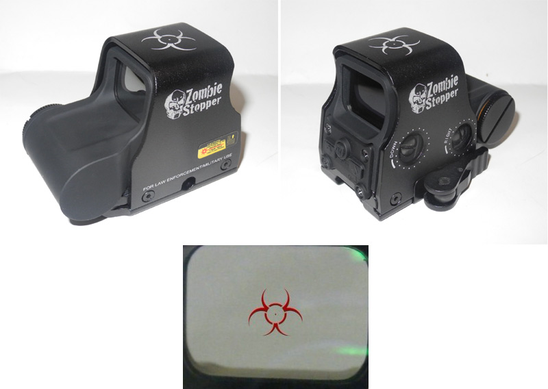 Tactical XPS3-2 558 Zombie Stopper Red & Green Dot Holographic Weapon Sight - Black