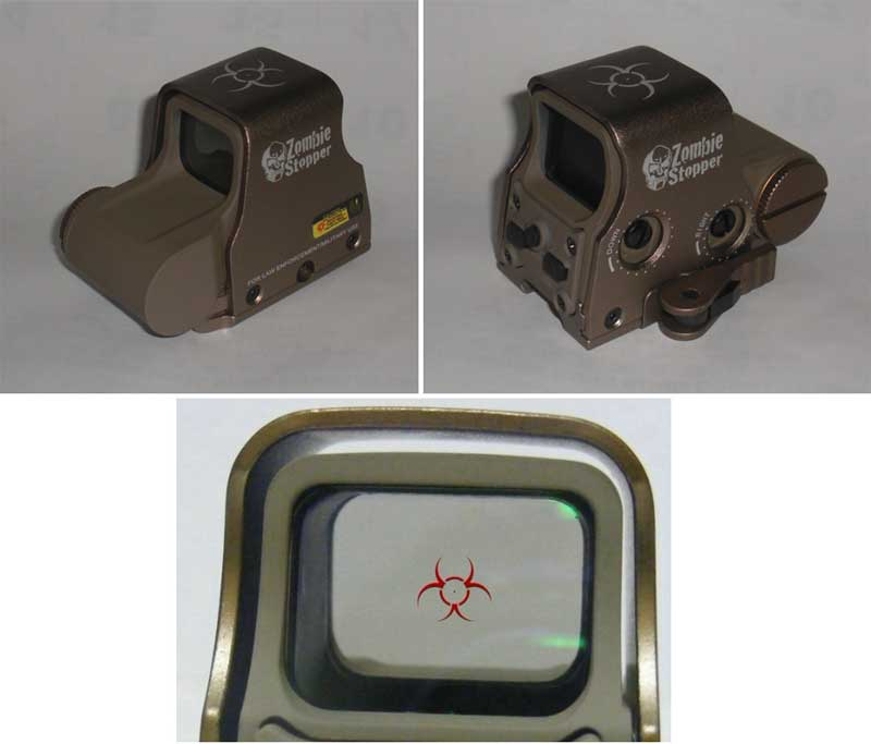 Tactical XPS3-2 558 Zombie Stopper Red & Green Dot Holographic Weapon Sight - Tan