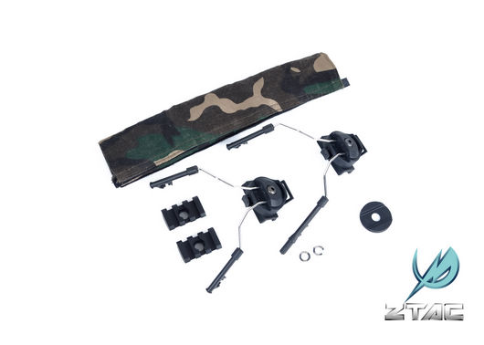 Z-TACTICAL Headset Rail Adapter Mount Set - Comtac I II Sordin on Rail / FAST Helmet - Black